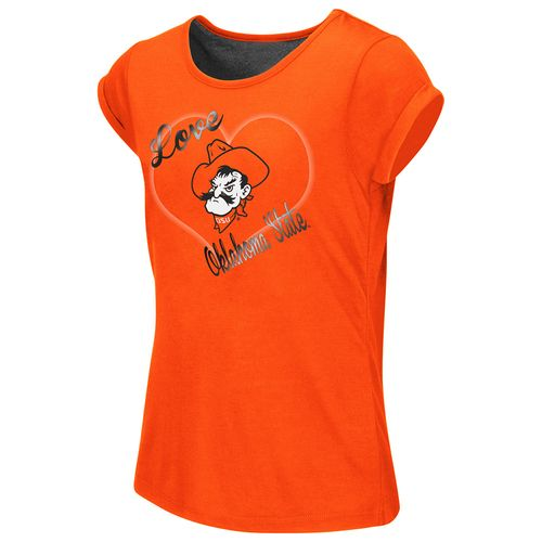 Colosseum Athletics™ Girls' Oklahoma State University Baywatch Split Back T-shirt