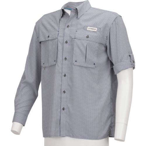 Display product reviews for Magellan Outdoors Men's Aransas Pass Long Sleeve Gingham Fishing Shirt