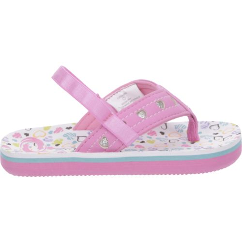 O'Rageous Toddler Girls' Hearts Flip-Flops