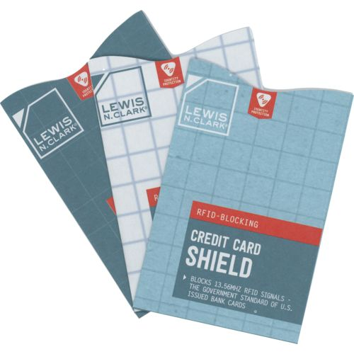 Lewis N. Clark RFID-Blocking Credit Card Shields 3-Pack