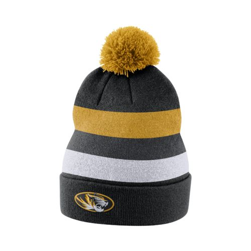 Nike™ Men's University of Missouri Sideline Cuffed Pom Beanie