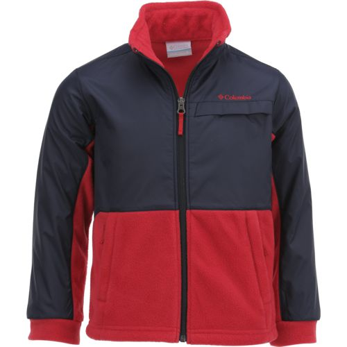 Columbia Sportswear Boys' Steen Mountain Overlay Fleece Jacket