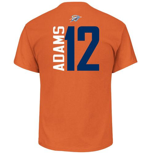 Majestic Men's Oklahoma City Thunder Steven Adams 12 Vertical Name and Number T-shirt