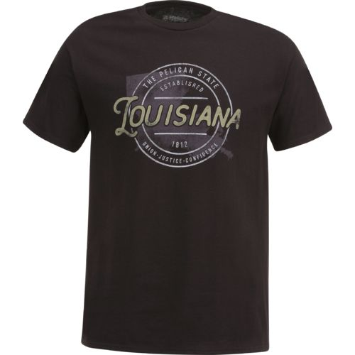 Academy Sports + Outdoors Men's Louisiana Circle T-shirt - view number 1