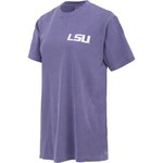 New World Graphics Women's Louisiana State University Comfort Color Initial Pattern T-shirt - view number 3