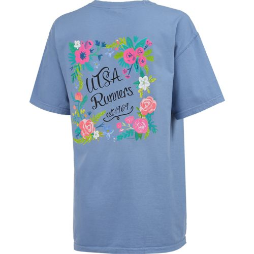 New World Graphics Women's University of Texas at San Antonio Comfort Color Circle Flowers T-shi - view number 2
