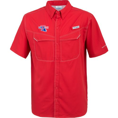 Columbia Sportswear Men's Louisiana Tech University Low Drag Offshore Short Sleeve Shirt