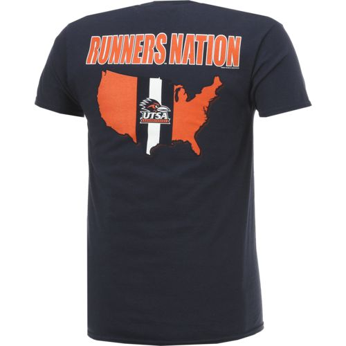 New World Graphics Men's University of Texas at San Antonio Stripe Nation T-shirt - view number 2