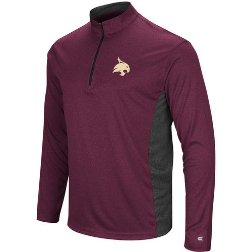 Colosseum Athletics Men's Texas State University Audible 1/4 Zip Windshirt