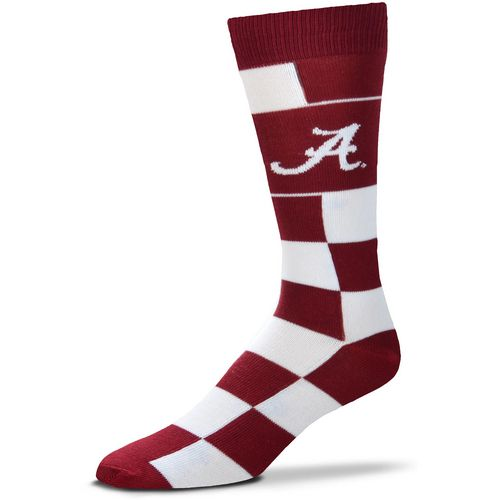 For Bare Feet University of Alabama Jumbo Check Thin Knee High Dress Socks