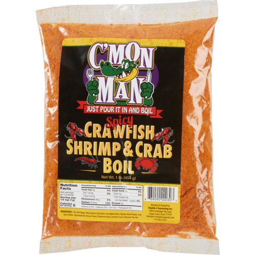 C'Mon Man 16 oz Spicy Crawfish Shrimp and Crab Boil Seasoning
