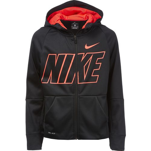 Nike Boys' Therma Full Zip Graphic Training Hoodie