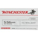Winchester USA Full Metal Jacket 5.56 x 45 mm 55- Rifle Ammunition
