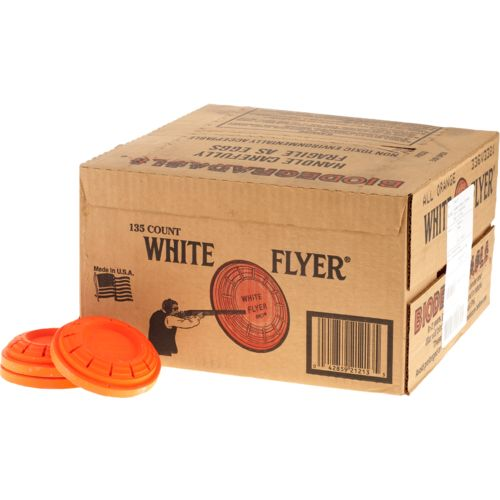 White Flyer Biodegradable 108 mm Clay Targets 135-Pack