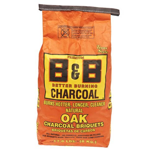 B&B Natural Oak 17.6 lb. Grill Briquettes