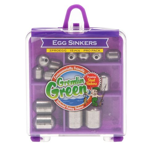 Water Gremlin Green Premium Steel Egg Sinkers Pro Pack Assortment