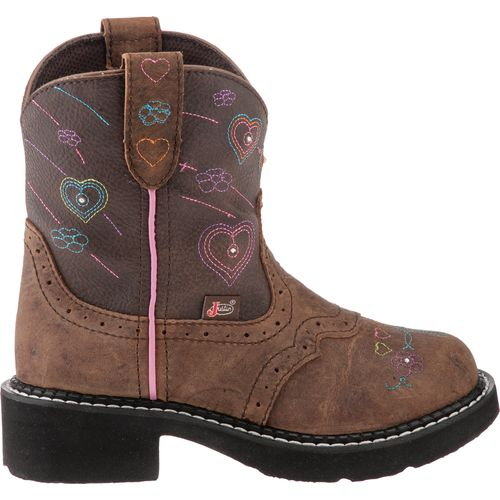 Justin  Girls  Gypsy  Distressed with Twinkle Lights Western Boots
