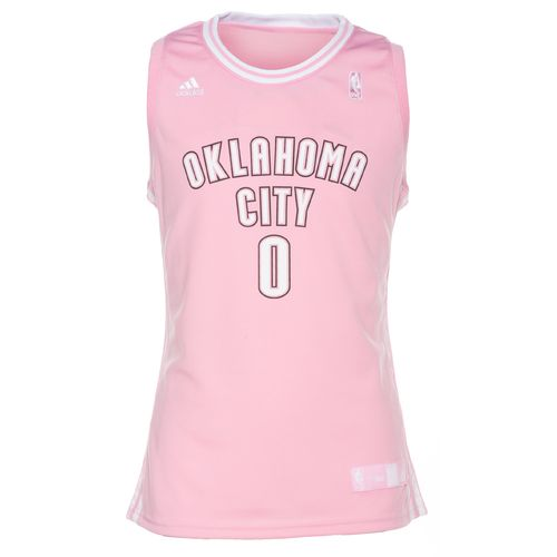 Image for adidas Girls' Oklahoma City Thunder Russell Westbrook Replica Jersey from Academy