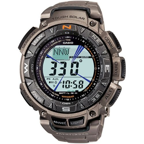 Casio Men's Pro-Trek PAG240T-7CR Pathfinder Triple-Sensor Multifunction Titanium Watch