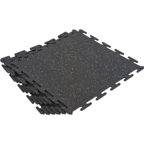 BCG Commercial-Grade Rubber Flooring Tiles 6-Pack