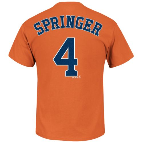 Majestic Men's Houston Astros George Springer #4 T-shirt