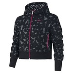 Nike Girls' Brushed-Fleece Graphic Full-Zip Hoodie