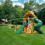 Gorilla Playsets™ Mountaineer Clubhouse Swing Set with Timber Shield™ - view number 2