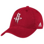 adidas Adults' Houston Rockets Cotton Adjustable Slouch Cap