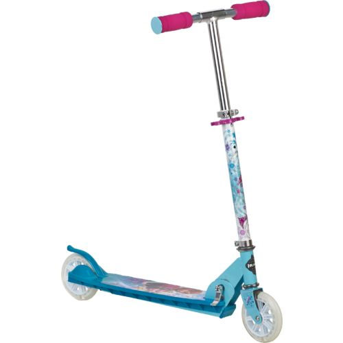 Huffy Girls' Disney Frozen Folding In-Line Scooter with Light Up Wheels