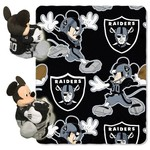 The Northwest Company Oakland Raiders Minnie Mouse Hugger and Fleece Throw Set