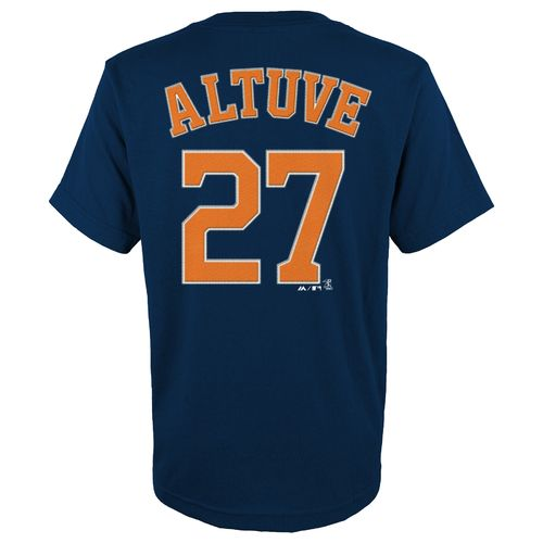 MLB Boys' Houston Astros José Altuve #27 Flat Synthetic T-shirt