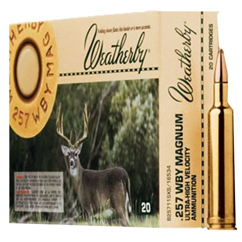 Weatherby® .257 Weatherby Magnum 120-Grain Nosler Partition Centerfire Rifle Ammunition