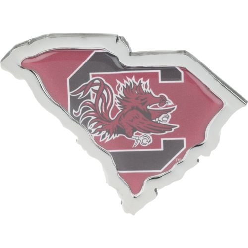 Stockdale University of South Carolina Chrome State Shape Auto Emblem