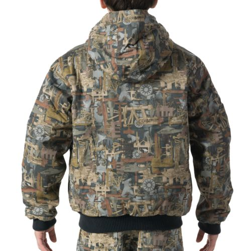 Walls Kids' Oilfield Camo Insulated Hooded Jacket - view number 2