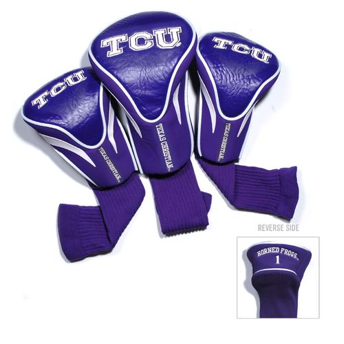 Team Golf Texas Christian University Contour Sock Head Covers 3-Pack