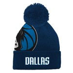 adidas Boys' Dallas Mavericks Cuffed Knit Cap with Pom