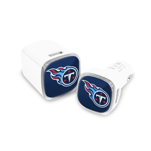 Mizco Tennessee Titans USB Chargers 2-Pack