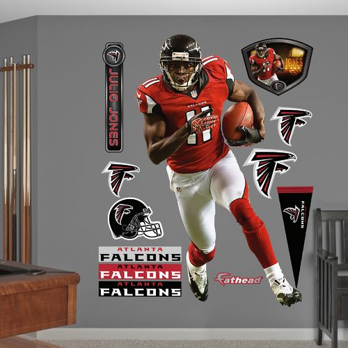 Fathead Atlanta Falcons Julio Jones Home Real Big Wall Decal