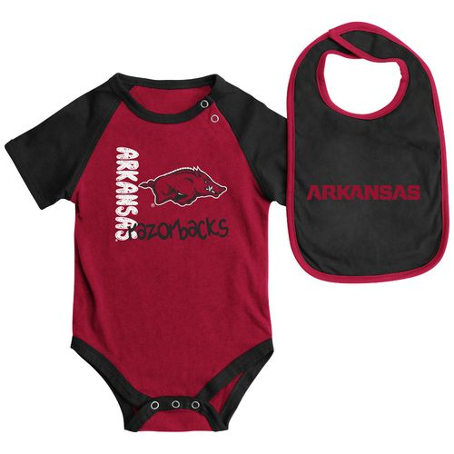 Colosseum Athletics Infants' University of Arkansas Rookie Onesie and Bib Set