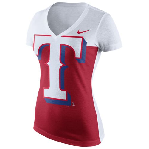 Nike™ Women's Texas Rangers Blocked T-shirt