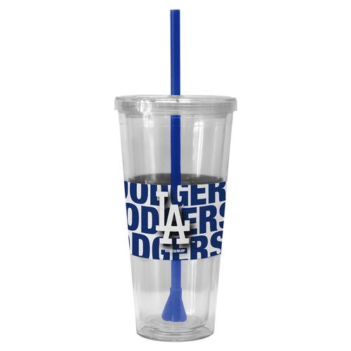Boelter Brands Los Angeles Dodgers Bold Neo Sleeve 22 oz. Straw Tumblers 2-Pack