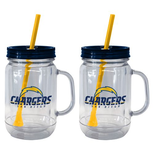 Boelter Brands San Diego Chargers 20 oz. Handled Straw Tumblers 2-Pack