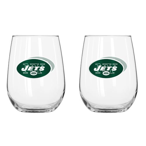 Boelter Brands New York Jets 16 oz. Curved Beverage Glasses 2-Pack
