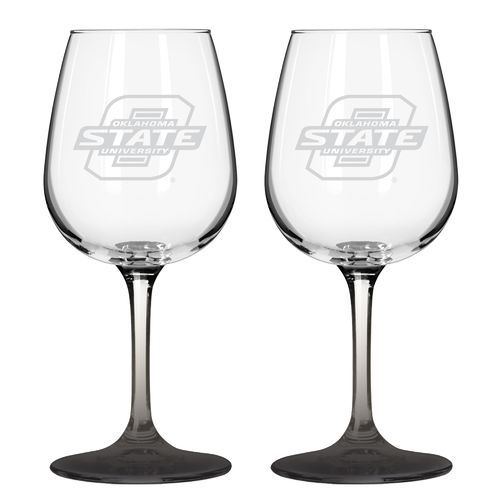 Boelter Brands Oklahoma State University 12 oz. Wine Glasses 2-Pack