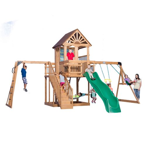 Backyard Discovery™ Oceanview Wooden Swing Set