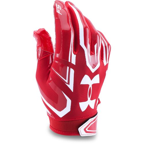 red football receiver gloves