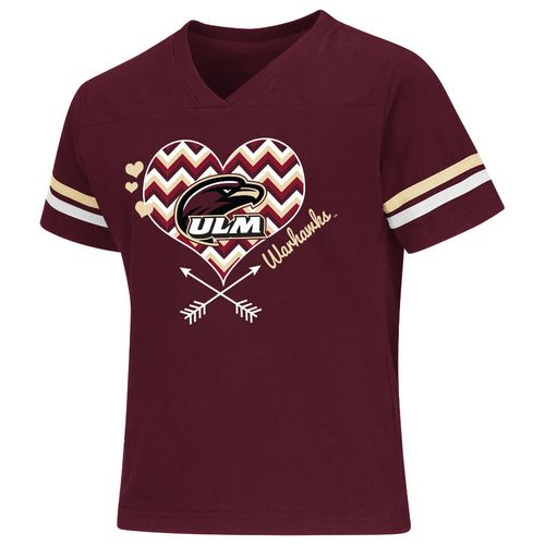 Colosseum Athletics Girls' University of Louisiana at Monroe Football Fan T-shirt