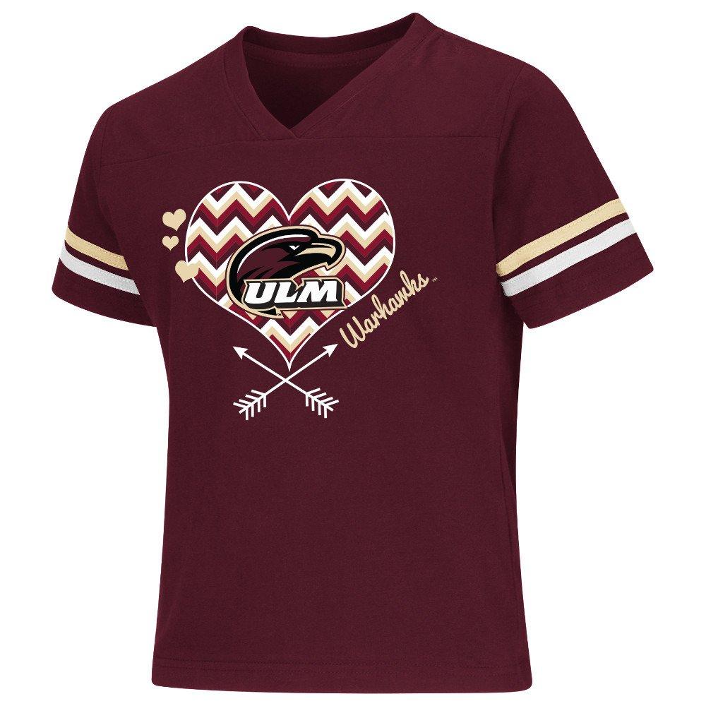 Colosseum Athletics Girls' University of Louisiana at Monroe Football Fan T-shirt