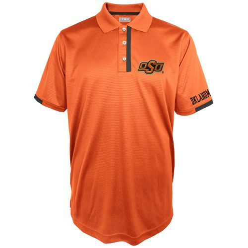 Majestic Men's Oklahoma State University Section 101 First Down Polo Shirt