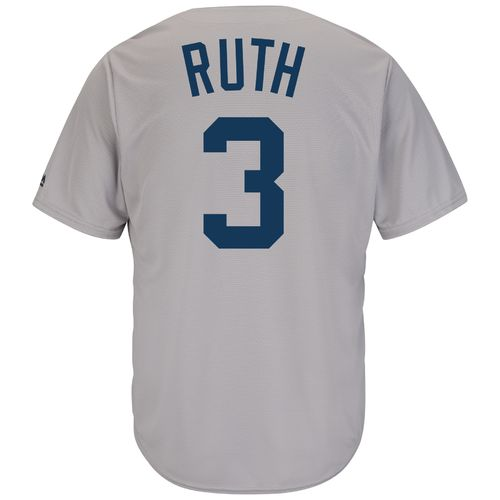 Majestic Men's New York Yankees Babe Ruth #3 Cooperstown Cool Base 1927 Replica Jersey